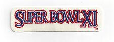 1977 Super Bowl XI patch Oakland Raiders vs Minnesota Vikings SB 11 Fred Biletni