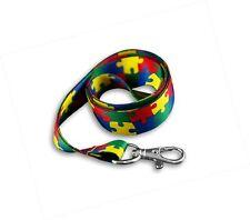 Autism Puzzle Piece Pattern Lanyard/Badge Holder 1