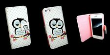 iPhone 5 C Premium Case Hülle Tasche Schutzhülle Eule schlafend türkis rosa pink