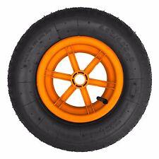 "ORANGE SPOKED 16"" Pneumatic Wheelbarrow Wheel Tyre 4.80/4.00 - 8"