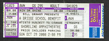 2000 Neil Young Bridge School Unbenutzt Konzert Ticket Foo Fighters Chili