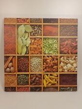Wunderschönes dekoratives Bild mit Gewürzen Gastronomiebild Küchenbild