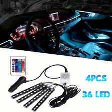 4pcs Car Rgb 36 Led Light Strip Interior Atmosphere Neon Lamp Remote Control