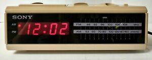 Retro SONY DREAM MACHINE ALARM Clock Radio! Digital! Tested/Works! (4,3)