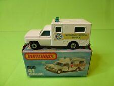 MATCHBOX 41 SUPERFAST AMBULANCE EMERGENCY MEDICAL SERVICE - WHITE - NMIB