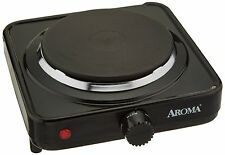 Aroma AHP303 Black 8.5 in. Portable Electric Hot Plate Single Burner