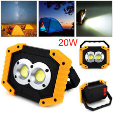 LED COB Work Light USB Rechargeable Spotlights Lamp Searchlight Camping Lamp