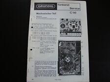 Original Service Manual Schaltplan Grundig C 110
