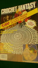 Crochet fantasy purse bag placemat runner back issue August 1984 Vol 3 - No. 6