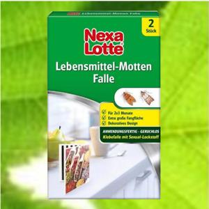 Nexa Lotte Pheromonfalle Lebensmittel-Mottenfalle  2 Stück °GB