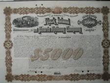 Rock Island and Peoria Railway Company  1885   5000$