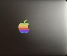 "🍎 10x Glowing Retro Apple laptop sticker decal backlit MacBook Air Pro 13"" inch"
