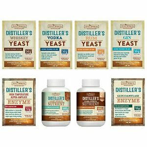 Still Spirits Distillers Craft Range Yeasts Amylase Enzymes and Nutrients