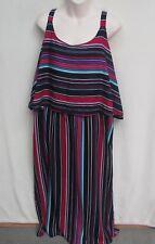 AUTOGRAPH size 20 Navy striped Maxi Summer Dress new