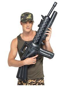 Hinchable Máquina Pistola Ejército Militar Accesorio para Disfraz Juguete