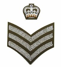 Badge Staff Sergeant Crown & Chevron FAD Uniform Crown & Stripes R802-1622