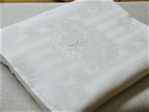 Wunderschöner weißer Bettbezug Rosenkörbe 100 % Baumwolle 150 x 180 cm