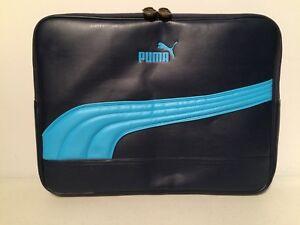Puma Laptop MacBook Portfolio Blue Bag Carrying Case Gym Coach Reporter Athlete