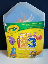 26 Crayola numbers flash cards. Write on wipe off educational learning