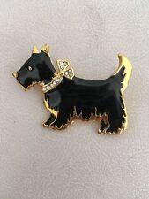 Scottish Terrier Enamel Brooch Pin