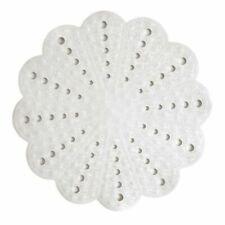Showerdrape Petal Anti Slip Round Shower Mat White