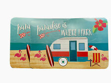 2 Camping Trailer Camper Rv Placemats Reversible Microban Paradise