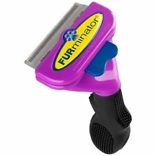 FURminator deShedding Purple Tool for Large Short Hair Cats Over10lbs Brush