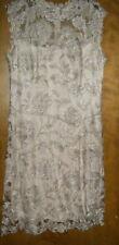 Tadashi Shoji: Embroidered Illusion Dress Champagne (16)