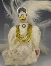 1985 Richard Palan Ooak Victorian Duck-Angel Ornament -Doll -Signed