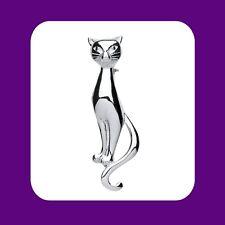 Sterling Silver Cat Brooch 925 Hallmark Brand New Boxed Gift