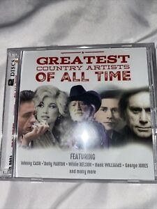 Greatest Country Artists Of All Time - CD - Johnny Cash Dolly Parton - FREE S&H!