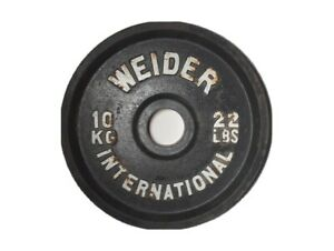 """WEIDER INTERNATIONAL WEIGHT 5 Kg 22lb RARE olympic PLATE 2"""" Hole"""