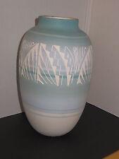 "Navajo Vase By: M. Jones NAV USA American Native Indian Pottery Vase 10"" Tall"