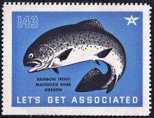 "Let's Get Associated #143 ""Rainbow Trout: Mackenzie River, Oregon"" Mnh"