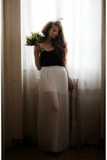 Polyester Pleated Long Skirts for Women