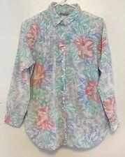 """Vintage """"Cabrais� Floral Button Down Shirt Size Large"""