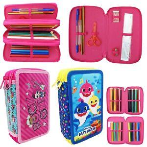 LOL Surprise!  & Baby Shark filled pencil case stationary set Girls Boys Kids