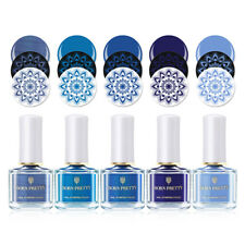 5 colors/set BORN PRETTY Nail Stamping Polish Blue Series Printing Polish Lot