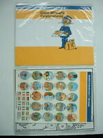 VINTAGE BCAL BRITISH CALEDONIAN AIRWAYS IN FLIGHT CHILDS PACK / MAP – Capt McCal