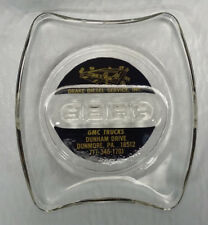 Vintage GMC Truck Drake Diesel Service Glass Ashtray Dunmore Pa