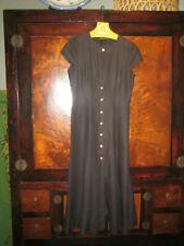 ESCADA Margaretha Ley Maxi Dress Linen Cap Sleeve Button Down  Size 44 (10-12)