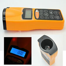 Ultrasonic LCD Tape Measure Distance Meter Laser Pointer Range Finder Tool 18m