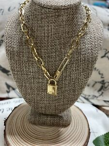 Necklace Doble X22 Stainless Steel Gold