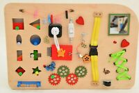 Busy Board Toddler, Montessori toys, Educational Toy Handmade Sensory Wooden Toy