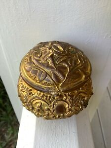 Art Nouveau Bronze & Gilt Jewelry Casket B & W 140