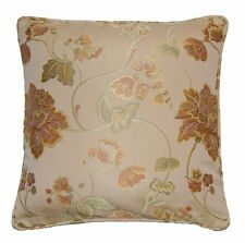 BUCKINGHAM TRADITIONAL FLORAL DESIGN LARGE CUSHION IN GOLD  60X60CMS