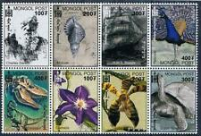 MONGOLIA 2000 CH. DARWIN MNH DINOSAURS TURTLES ORCHIDS SHELLS FLOWERS BIRDS