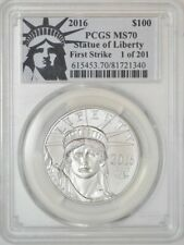 2016 $100 Statue of Liberty Platinum Eagle First Strike Ms70 Pcgs 942911-1
