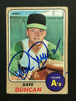 Dave Duncan A's Athletics signed 1968 Topps baseball card #261 Auto Autograph 1