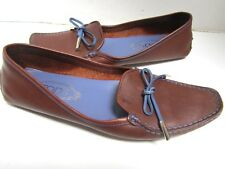 Tod's Brown & Lavender Driving Loafers Mocs Shoes Gorgeous Italy 8